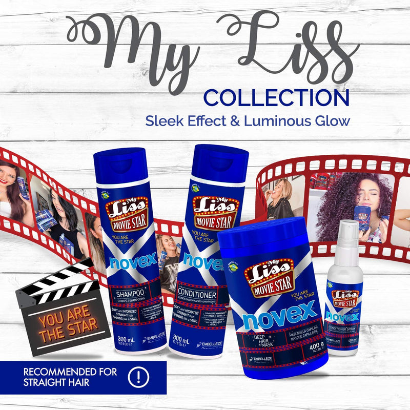 My Liss Movie Star by Novex Deep Hair Mask 400g - Jamaican Black Castor Oil & Hair Repair