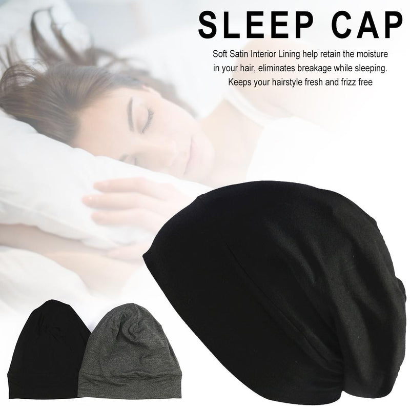 Satin Lined Sleep Cap Anti-Frizz Satin Lined Sleep or Day time Slouchy Cap Curly Girl Slap Headwear Gifts