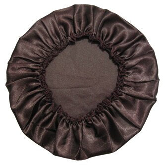 100% Polyester Satin Silky Feeling Night Sleep Cap Bonnet Cap 11colors - Jamaican Black Castor Oil & Hair Repair