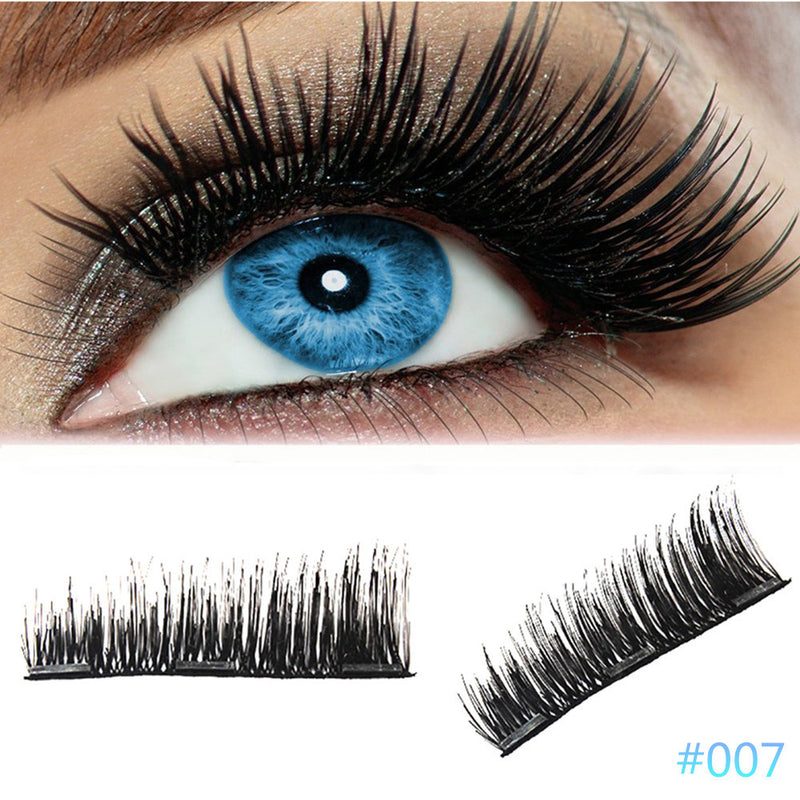 4Pcs Ultra-thin 0.2mm Magnetic Eye Lashes 3D Reusable False Magnet Eyelash - Jamaican Black Castor Oil & Hair Repair