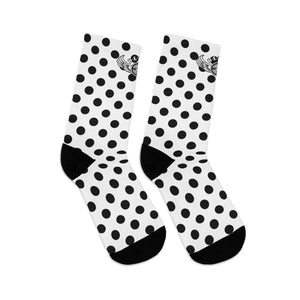 D*L*Y*S*I Black Polka-Dot Socks