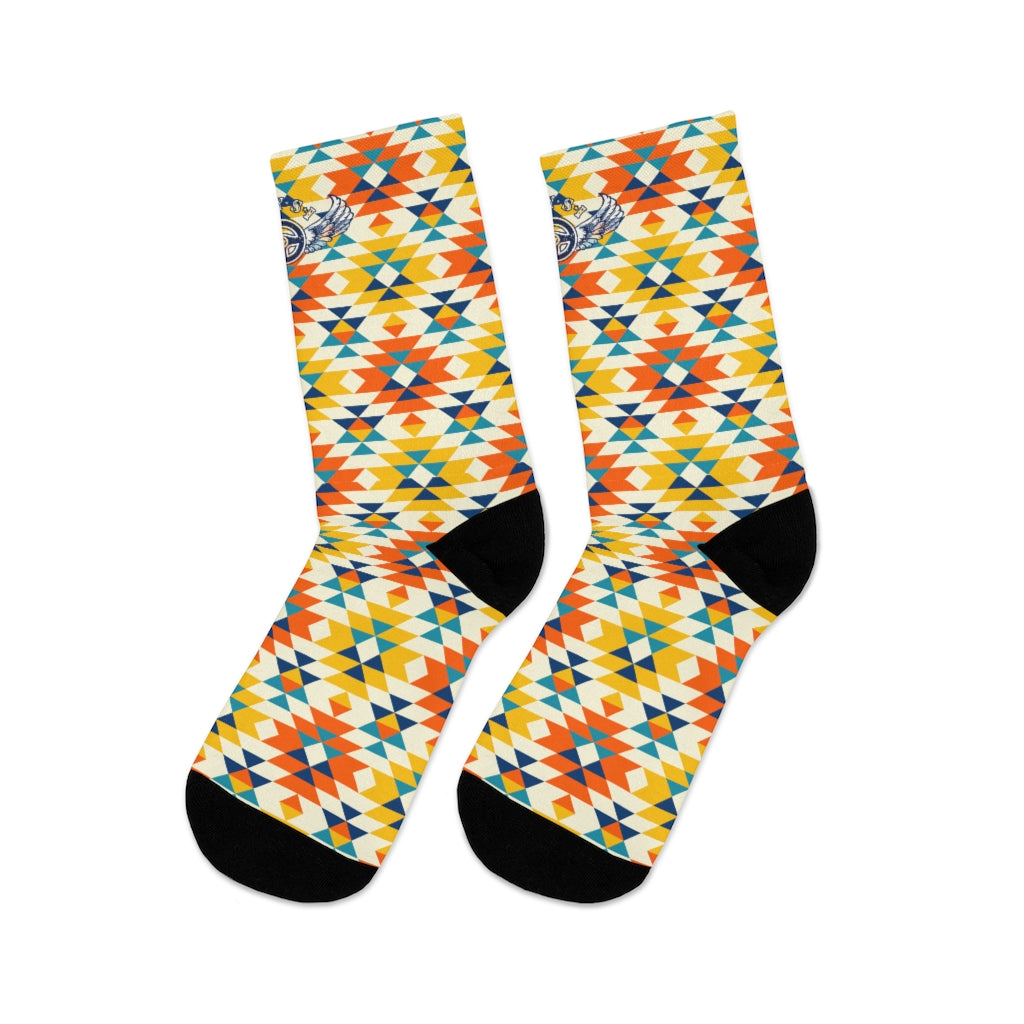 D*L*Y*S*I Southwest Colorful Diamond Pattern Socks