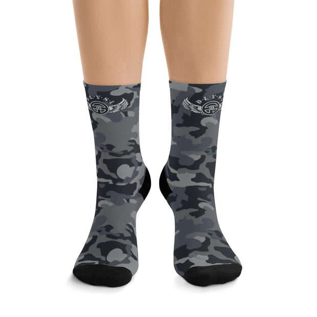 Dark Grey & Black CAMO DLYSI Socks