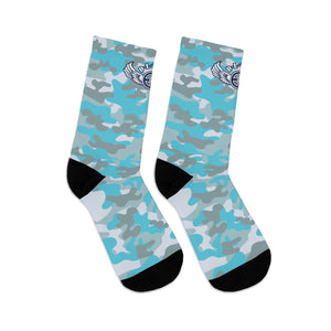 D*L*Y*S*I Powder Blue & Grey CAMO Socks