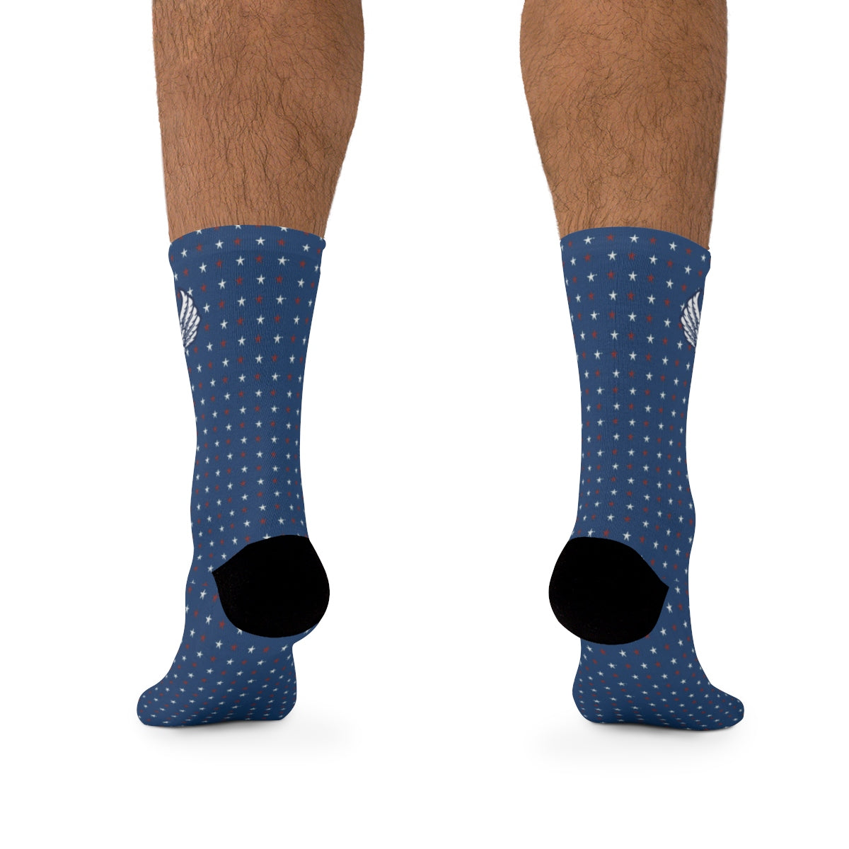 D*L*Y*S*I Red, White & Blue Stars Socks