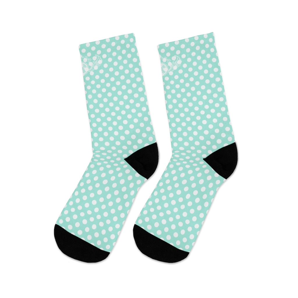 D*L*Y*S*I Tiffany Blue & White Polka-Dot Socks
