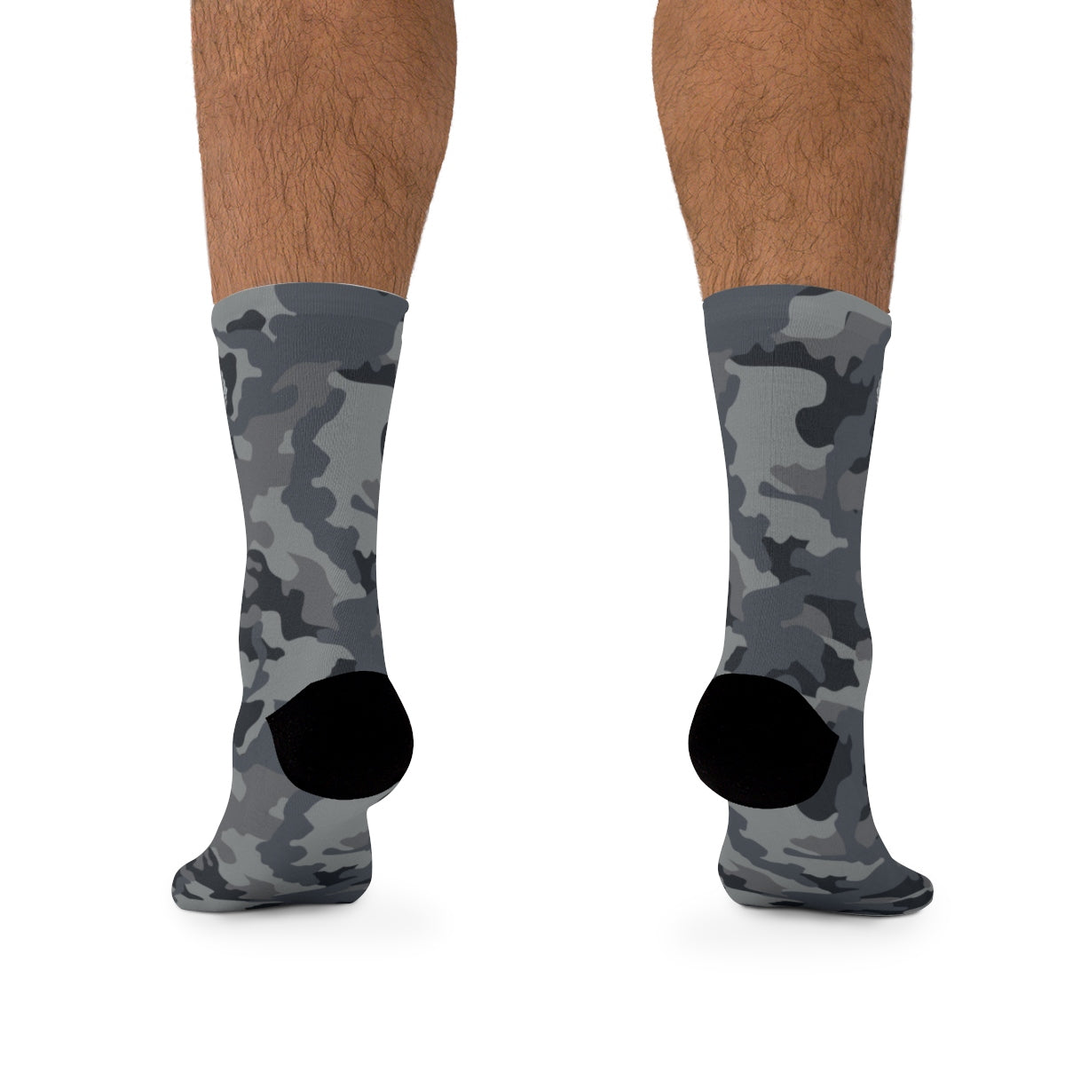 D*L*Y*S*I Dark Grey & Black CAMO Socks