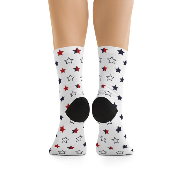 Red, White & Blue Star DLYSI Socks