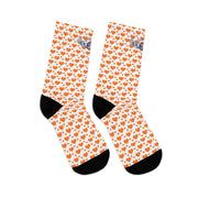 D*L*Y*S*I Orange Heart Socks