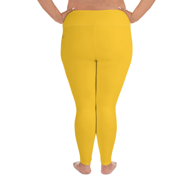 DLYSI Yellow Plus Size Leggings