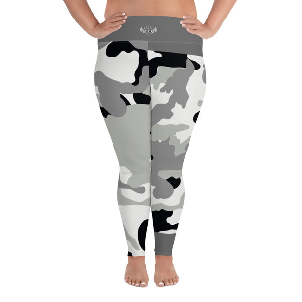 DLYSI Grey CAMO Plus Size Leggings