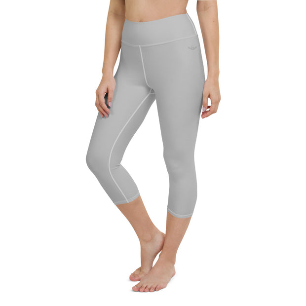 DLYSI Grey Yoga Capri Leggings