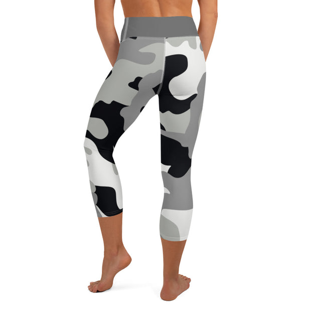DLYSI Grey CAMO Yoga Capri Leggings