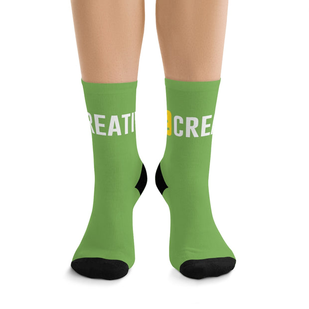 BE CREATIVE Green DLYSI Socks