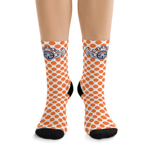 D*L*Y*S*I Orange Polka Dot Socks