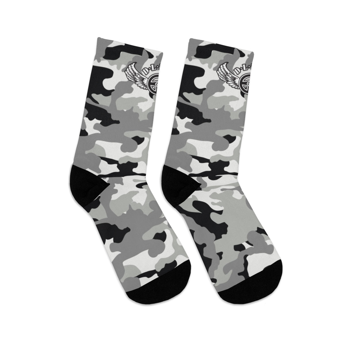 D*L*Y*S*I Black & White CAMO Socks