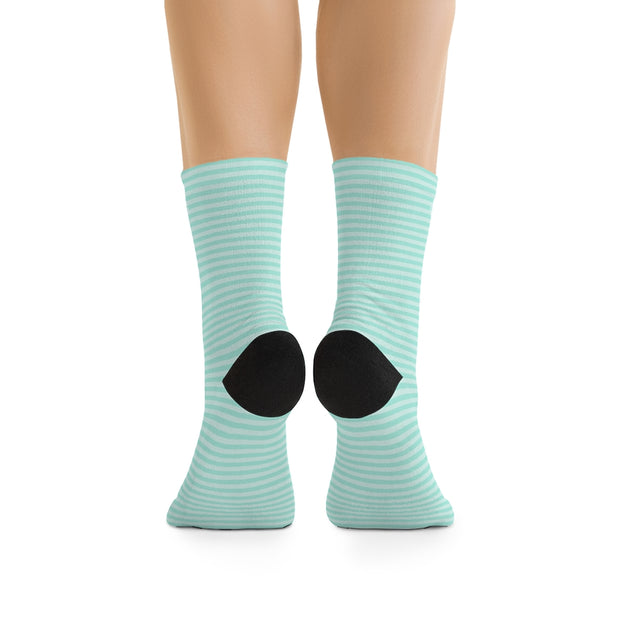 Tiffany Blue Stipe DLYSI Socks