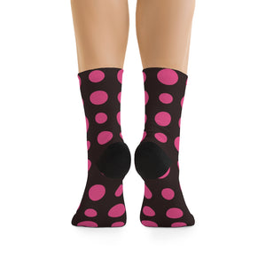 D*L*Y*S*I Black & Pink Polka Dot Socks