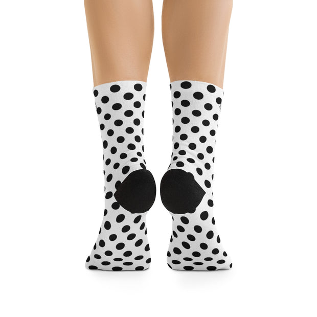 Black Polka-Dot DLYSI Socks