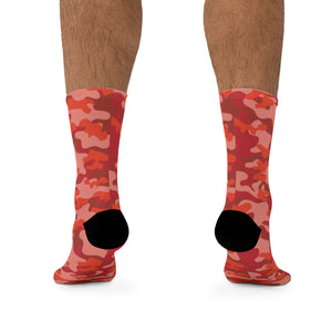 "D*L*Y*S*I ""Cra-Cra"" Red CAMO Socks"