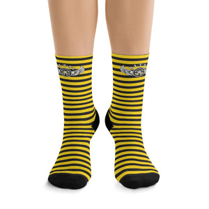 D*L*Y*S*I Yellow & Black Stripe Socks