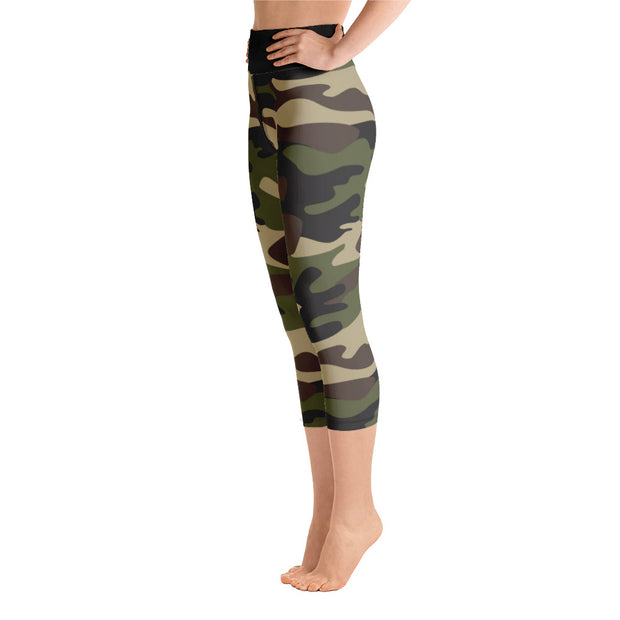 DLYSI CAMO Yoga Capri Leggings