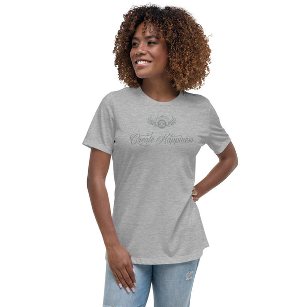 INSPIRED TO ... CREATE HAPPINESS Women's Relaxed T-Shirt