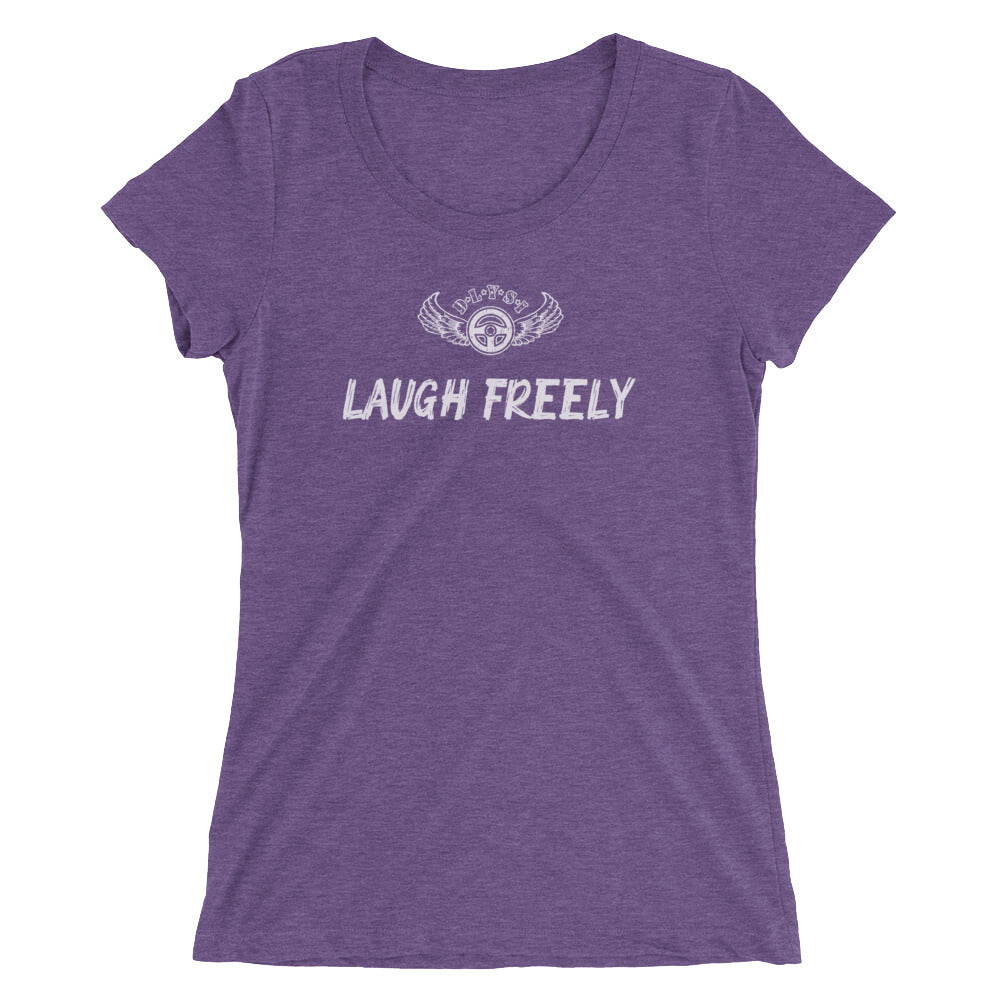 INSPIRED TO ... LAUGH FREELY Ladies'  Short Sleeve T-Shirt