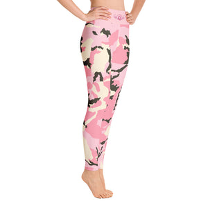 D*L*Y*S*I Pink CAMO Yoga Leggings