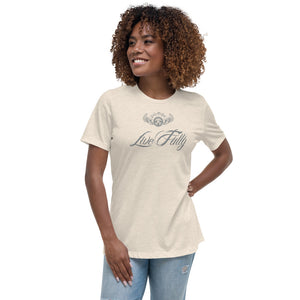 INSPIRED TO ... LIVE FULLY Women's Relaxed T-Shirt