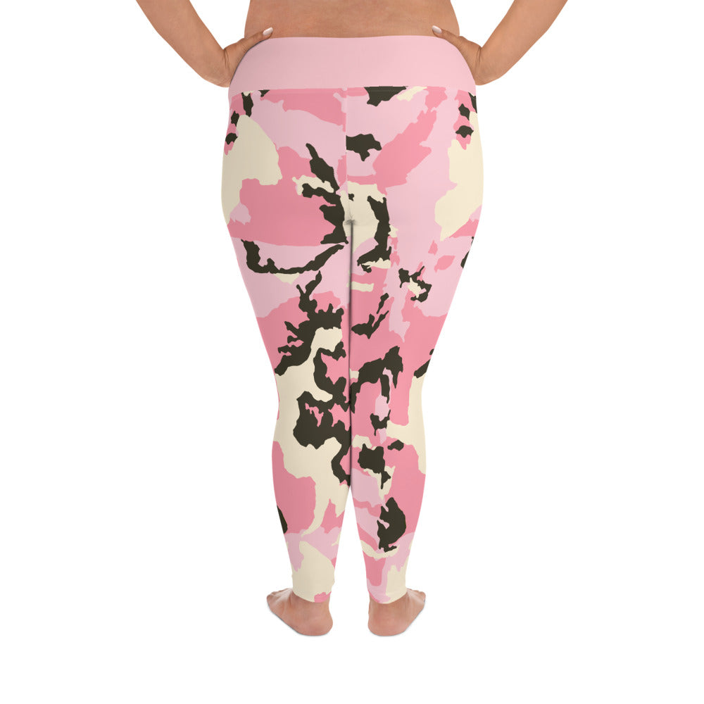 D*L*Y*S*I Pink CAMO Plus Size Leggings