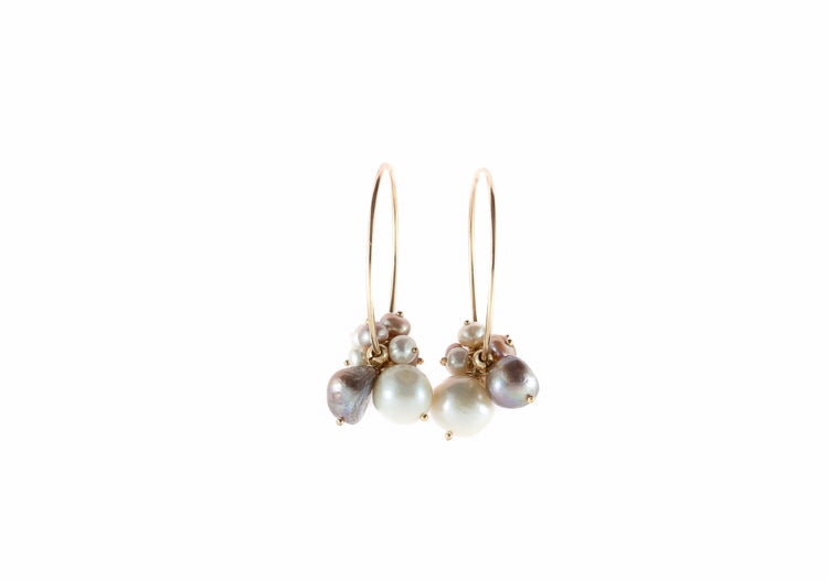Linnie Pearl Hoop Earrings