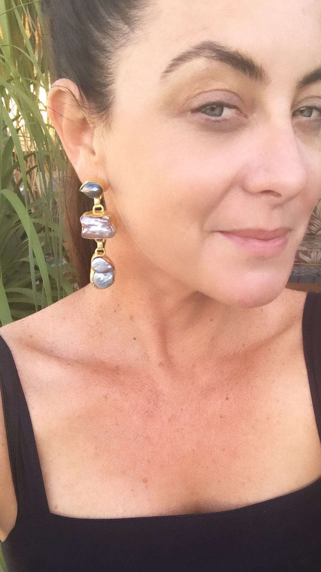 Athena Earrings in Mother of Pearl