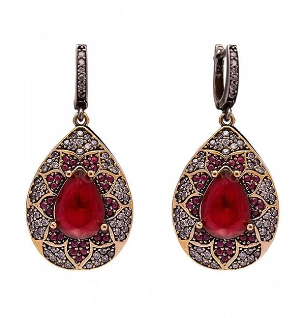 Anastasia Ruby Drop Earrings