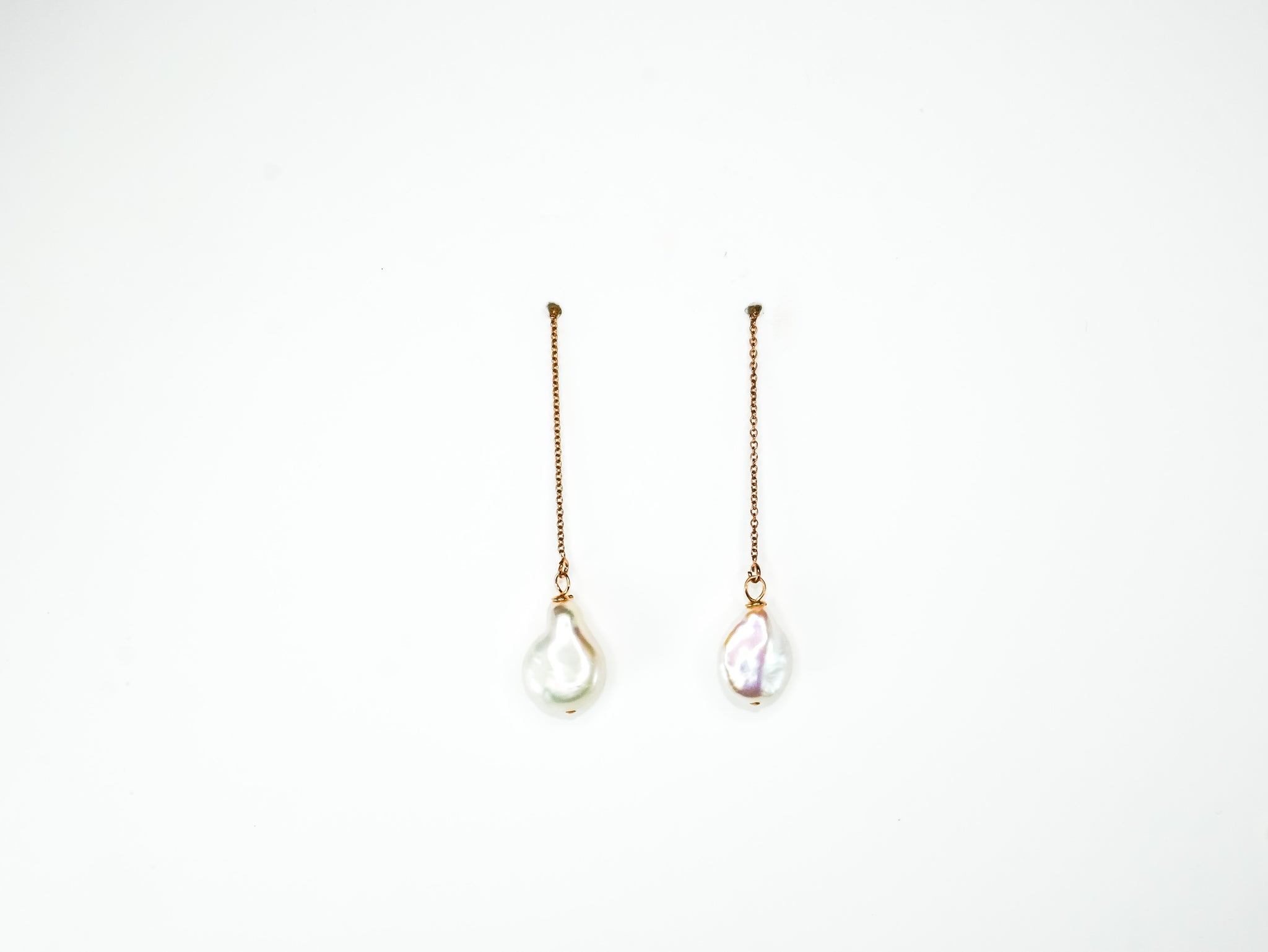 Kiara Keshi Pearl Threader Earrings
