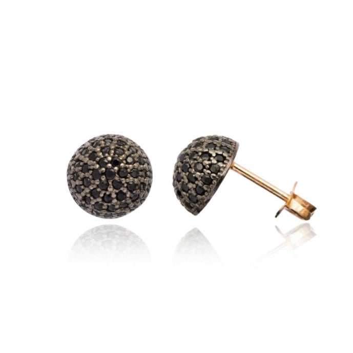 Vault Gemstone Studs in Black Onyx