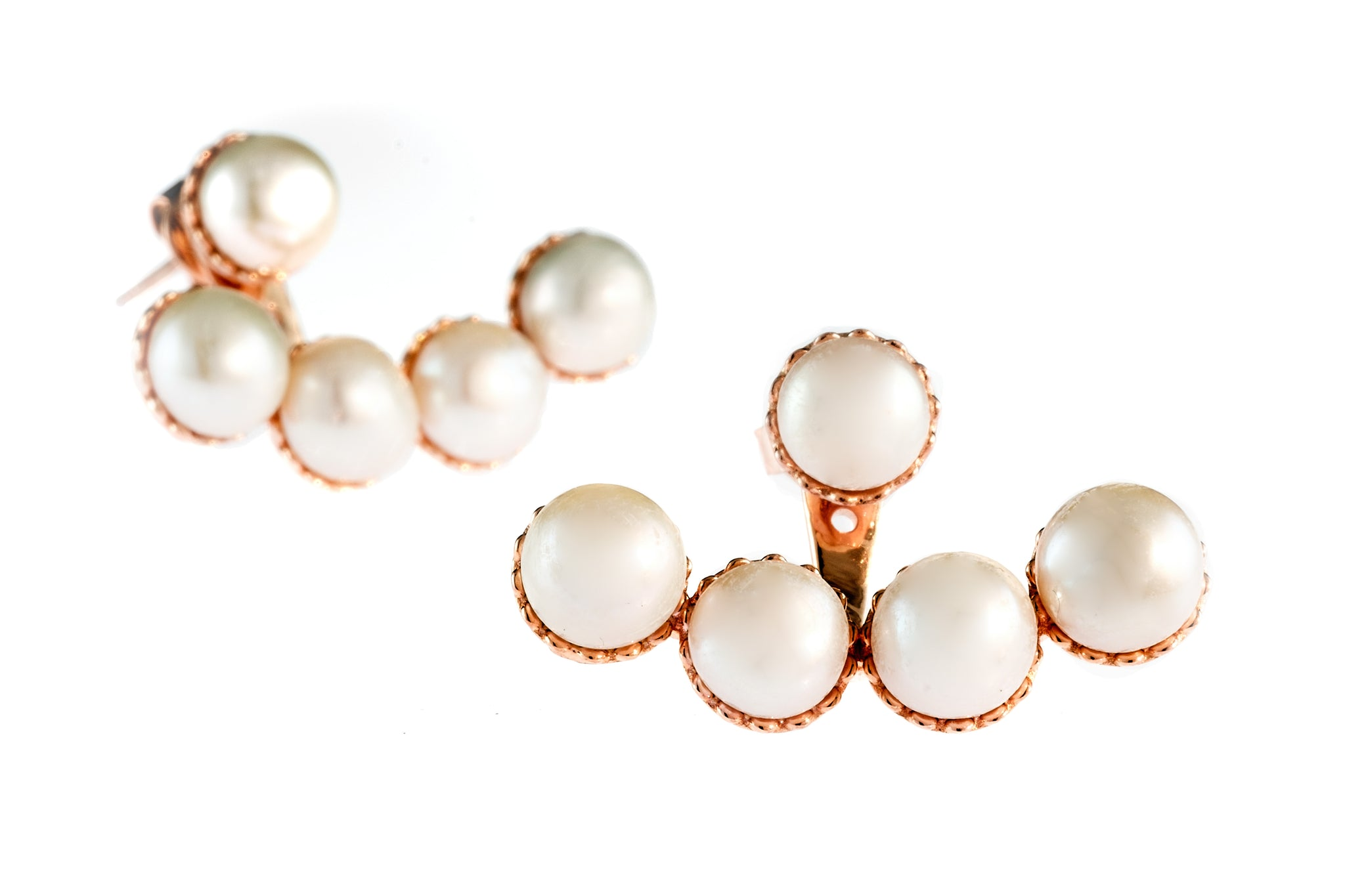 Joan of Arc Pearl Ear Jackets