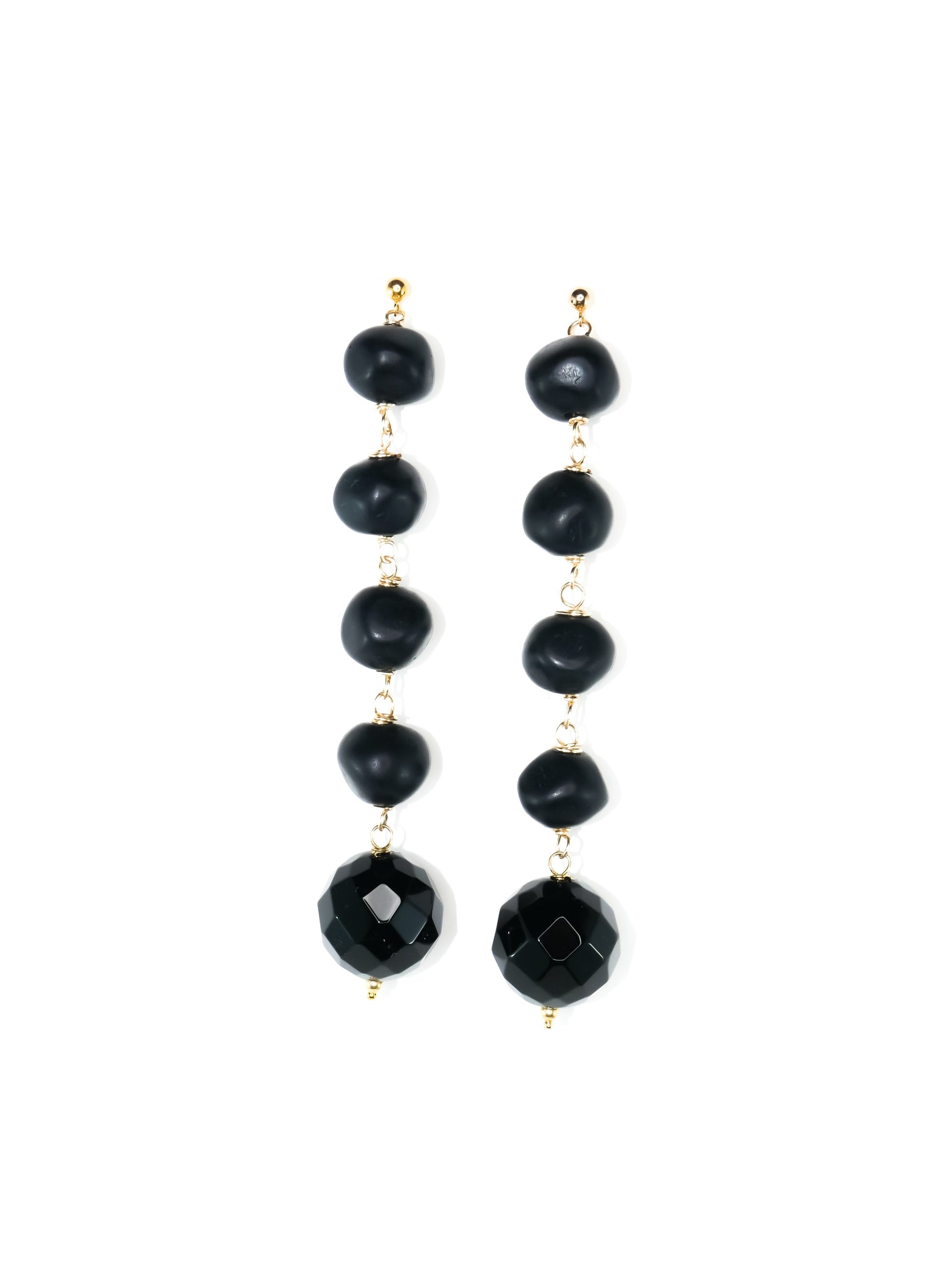Jess Black Gemstone Drops