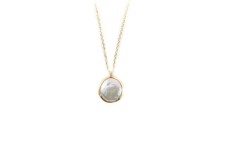 Astrid Pearl Fine Charm Necklace