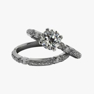 Floral Motif Engagement Ring Setting