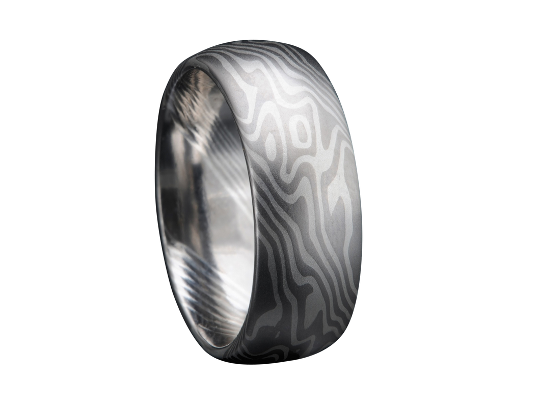 Mokume Gane Men's Wedding Band Style #1 Sa Francisco