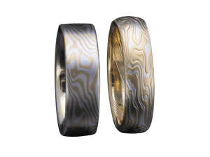 Mokume Gane Men's Wedding Bands Band Ring Rings