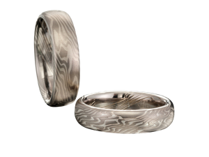Mokume Gane Men's Wedding Bands Band Ring Rings San Francisco Partita customer design jewelry