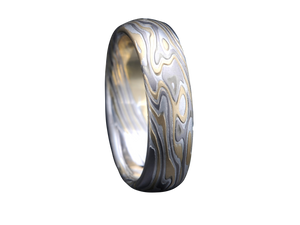Mokume Gane Men's Wedding Band Bands Ring Rings San Francisco Partita customer design jewelry