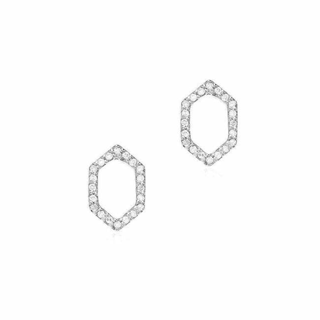 Hexagon Diamond Pave Earrings