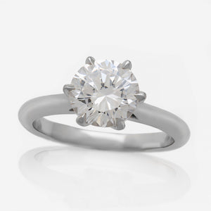 Six Prong Solitaire Engagement Ring Setting