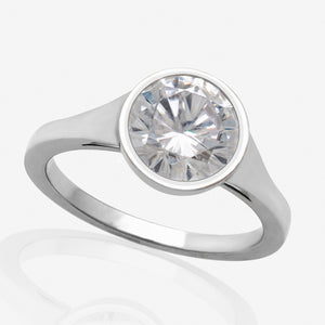 Bezel Set Engagement Ring Setting