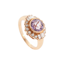 Load image into Gallery viewer, Amethyst & Diamond Ring