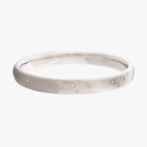Scattered Diamond Bangle