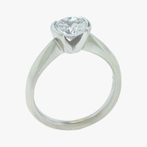 Half Bezel Set Engagement Ring